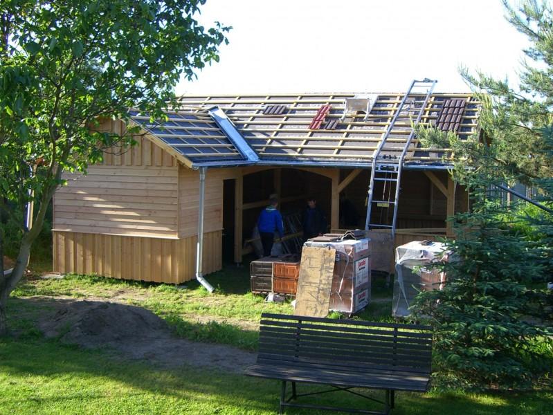 gartenhaus aus l rchenholz bauen mit holz